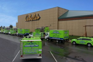 Air Duct Cleaning at the well known Cabelas in Michigan.  Amistee Air Duct Cleaning